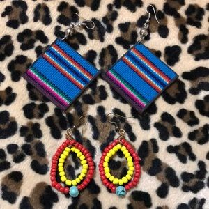 Earring bundle- 2 pairs Latina, serape, Mexican